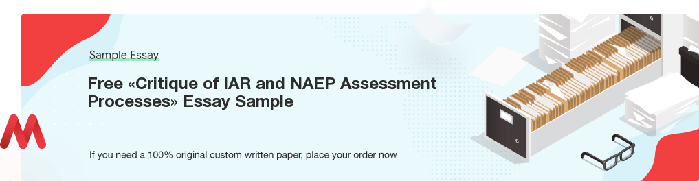 Custom «Critique of IAR and NAEP Assessment Processes» Essay Paper